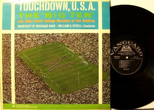 University Of Michigan - Touchdown, U.S.A. - Vinyl LP Record - UM Wolverines Football Sports