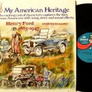 Ford Automobiles - My American Heritage Henry Ford - Vinyl LP Record - Racing