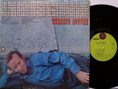 Louvin, Charlie - Ten Times Charlie - Vinyl LP Record - In Shrink Wrap - Country