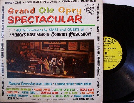 Grand Ole Opry Spectacular - 2 Vinyl LP Record Set - with Johnny Cash, etc - Starday - Country