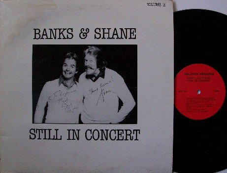 Banks & Shane - Still In Concert - Signed Vinyl LP Record - Autographed - Folk