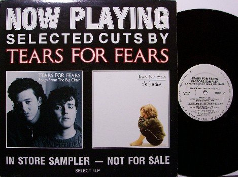 Tears For Fears - Now Playing - Vinyl LP Record - White Label Promo - Promotional Only - Rock