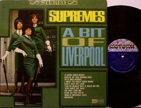 Supremes - A Bit Of Liverpool - Vinyl LP Record - Covers of Beatles, Animals, D C 5, etc - R&B Soul