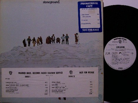 Stoneground - Vinyl LP Record - White Label Promo - 1970 Hippie California Band - Psych Rock
