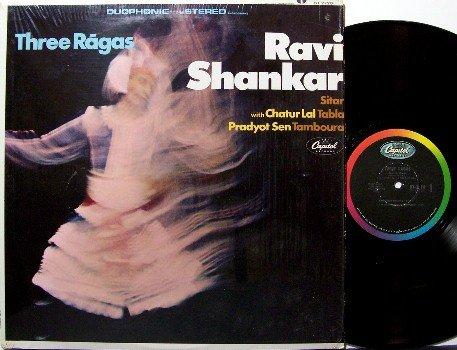 Shankar, Ravi - Three Ragas - Vinyl LP Record - India Sitar - 3 - World