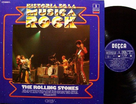 Rolling Stones, The - Historia De La Musica Rock - Vinyl LP Record - Spain Pressing