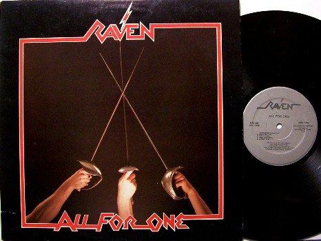 Raven - All For One - Vinyl LP Record - Megaforce Label - Metal Rock