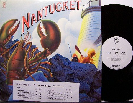 Nantucket - Vinyl LP Record - White Label Promo + Insert - Rock