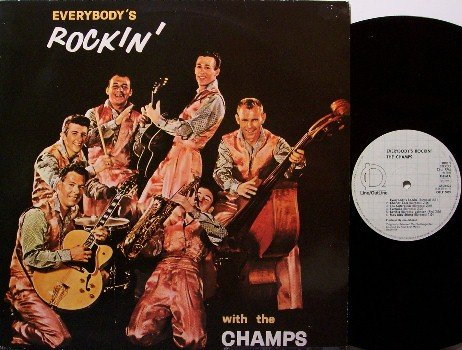 Champs, The - Everybody's Rockin' With The Champs - Germany Pressing -  Vinyl LP Record - Rock