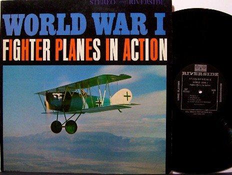 World War 1 Fighter Planes In Action - Vinyl LP Record - Riverside Label - Odd Unusual