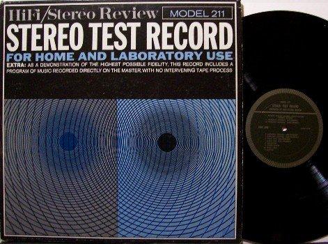 Stereo Test Record - HiFi / Stereo Review Model 211 - Vinyl LP - Odd Unusual