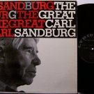 Sandburg, Carl - The Great - Vinyl LP Record - Folk Poetry - Poet Odd Unusual