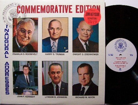 Presidential Inaugural Addresses - Vinyl LP Record - Jim Keysor  Political - Odd Unusual