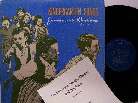 Kindergarten Songs - Games & Rhythms - Vinyl LP Record - Children Kids