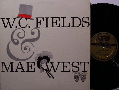 Fields, W.C. & Mae West - Vinyl LP Record - WC - Comedy Odd Unusual