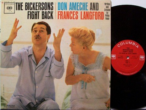 Bickersons, The - Fight Back - Vinyl LP Record - Don Ameche & Frances Langford - Comedy Odd Unusual