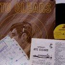 A T C Clears - Vinyl LP Record / Inserts - Aviation Airplane Pilot Instruction Album - Odd Unusual