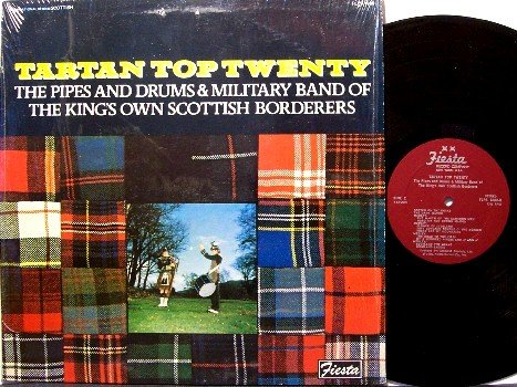 Tartan Top Twenty - Scottish Bagpipes Music - Vinyl LP Record - Military