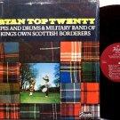 Tartan Top Twenty - Scottish Bagpipes Music - Vinyl LP Record - Military