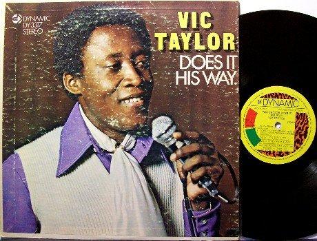 Taylor, Vic - Does It His Way - Vinyl LP Record - Jamaica Pressing - Reggae
