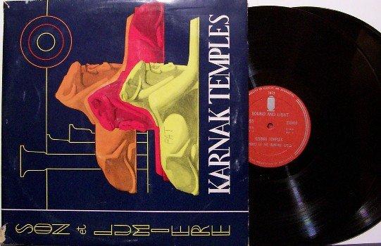 Karnak Temples - Son et Lumiere - 2 Vinyl LP Record Set + Booklet - Egypt - World Odd Unusual
