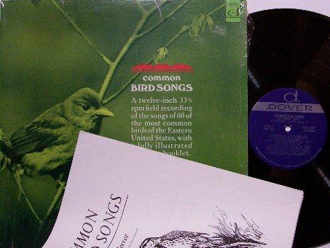 Common Bird Songs - Vinyl LP / Booklet - 60 Actual Bird Animal Sound Recordings - Weird Unusual