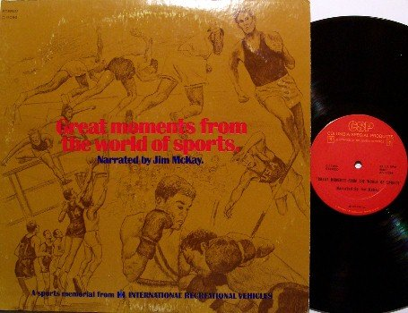 Great Moments From The World Of Sports - Jim McKay - Vinyl LP Record