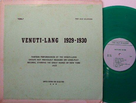 Venuit, Joe & Eddie Lang - Venuti Lang 1929-1930 - Vinyl LP Record - Green Vinyl - Private - Jazz