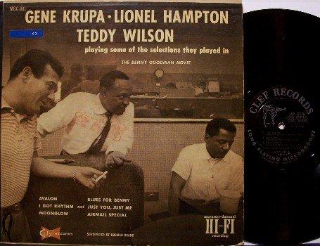 Krupa, Gene, Lionel Hampton, Teddy Wilson - Playing Some Of  - Vinyl LP Record - Clef Mono - Jazz