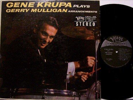Krupa, Gene - Plays Gerry Mulligan Arrangements - Vinyl LP Record - Verve Jazz