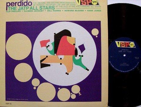J A T P All Stars - Perdido - Vinyl LP Record - Verve Mono - Illinois Jacquet, Jo Jones, etc - Jazz