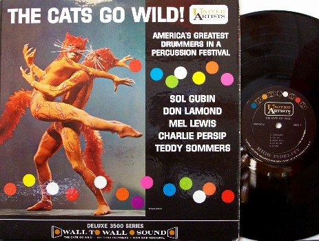 Cats Go Wild, The - Vinyl LP Record - Drum Festival - Unusual Cover - Jazz