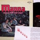 Manna - Reach For The Light - Vinyl LP Record + Insert - 70's Xian Folk Rock