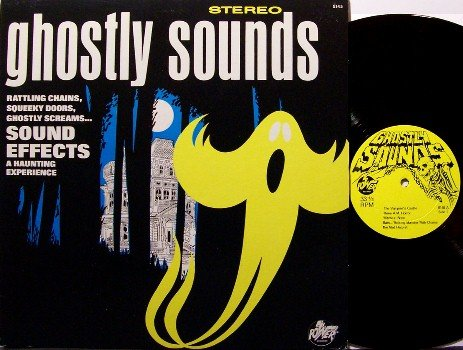 Ghostly Sounds - Vinyl LP Record - Halloween - Haunting Sound Effects - Ghost - Children Kids