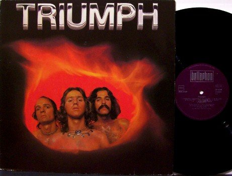 Triumph - Self Titled - Vinyl LP Record - 1976 German Original Pressing - Rock