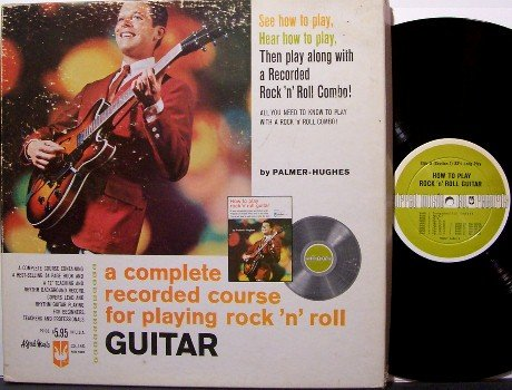 Guitar Rock Electric Course Instruction - Palmer Hughes 1966 - Vinyl LP Record & Book - Box Set