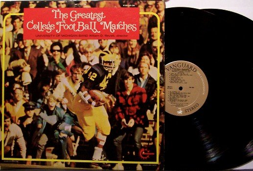 Greatest College Football Marches - 2 Vinyl LP Record Set - University Of Michigan Band - Sports