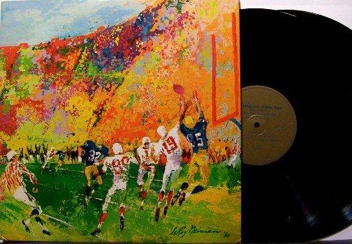 Leroy Neiman Art Artwork - Fighting Irish of Notre Dame - 2 Vinyl LP Record Set - Football Sports