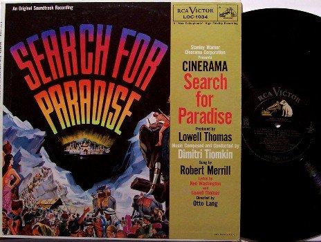 Search For Paradise - Soundtrack - Vinyl LP Record - 1957 - Dimitri Tiomkin / Robert Merrill - OST