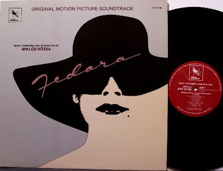 Fedora - Soundtrack - Vinyl LP Record - Varese Sarabande - Miklos Razsa - OST
