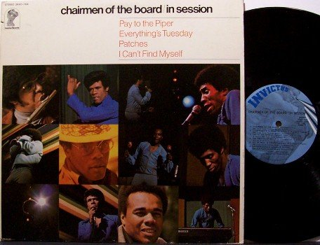 Chairmen Of The Board - In Session - Vinyl LP Record - Chairman - R&B Soul