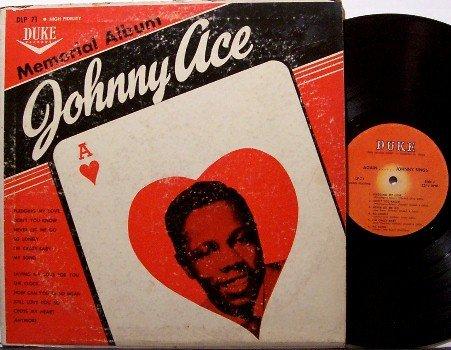 Ace, Johnny - Memorial Album I I - Vinyl LP Record - Original Duke Label - Mono - R&B Soul Doo Wop