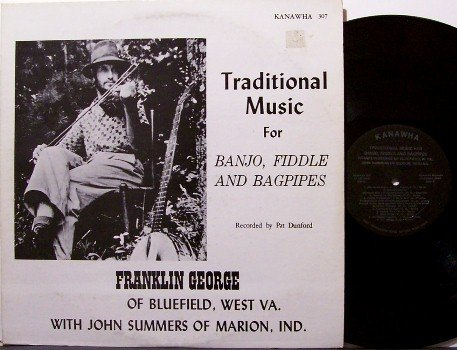 George, Franklin - Traditional Music For Banjo Fiddle & Bagpipes - Vinyl LP Record - Mountain Folk