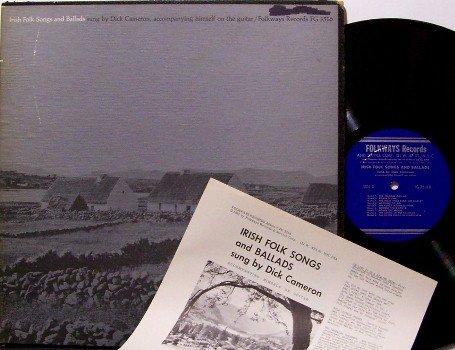 Cameron, Dick - Irish Folk Songs and Ballads - Vinyl LP Record / Booklet - 1961 Folkways