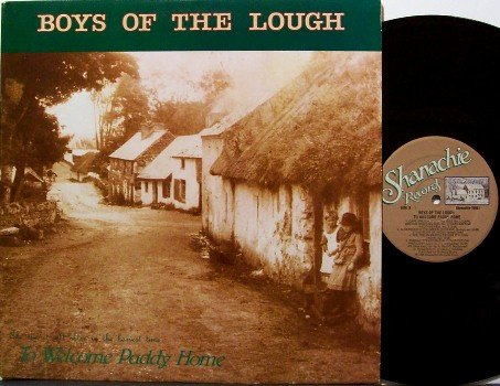 Boys Of The Lough - To Welcome Paddy Home - Vinyl LP Record - Irish Celtic - Folk