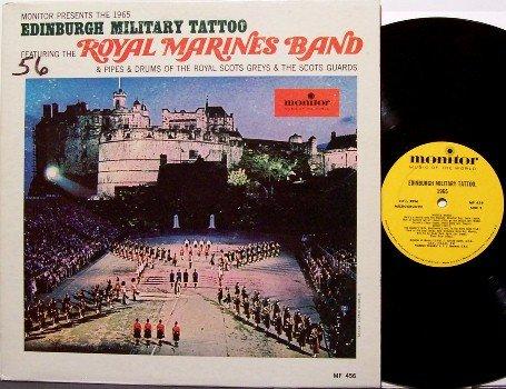 Royal Marine Band - Edinburgh Military Tattoo - Vinyl LP Record - Marching Music Military