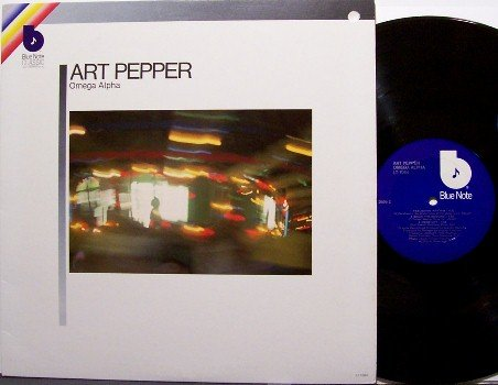 Pepper, Art - Omega Alpha - Vinyl LP Record - Blue Note Jazz