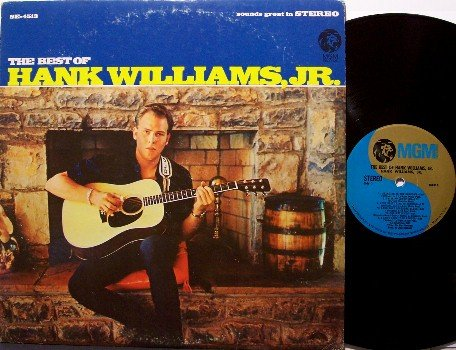 Williams, Hank Jr. - The Best Of Hank Williams Jr - Vinyl LP Record - MGM - Country