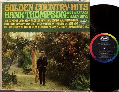 Thompson, Hank - Golden Country Hits - Vinyl LP Record - Mono