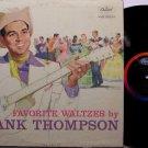 Thompson, Hank - Favorite Waltzes - Vinyl LP Record - Mono